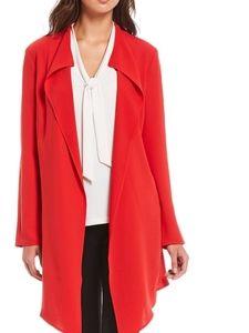 Anne Klein Long Jacket Trench Length Blazer